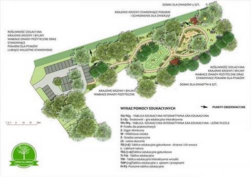 Projekt park Cegłów